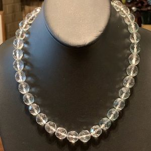 Clear crystal beaded necklace. 2/$10 Sale